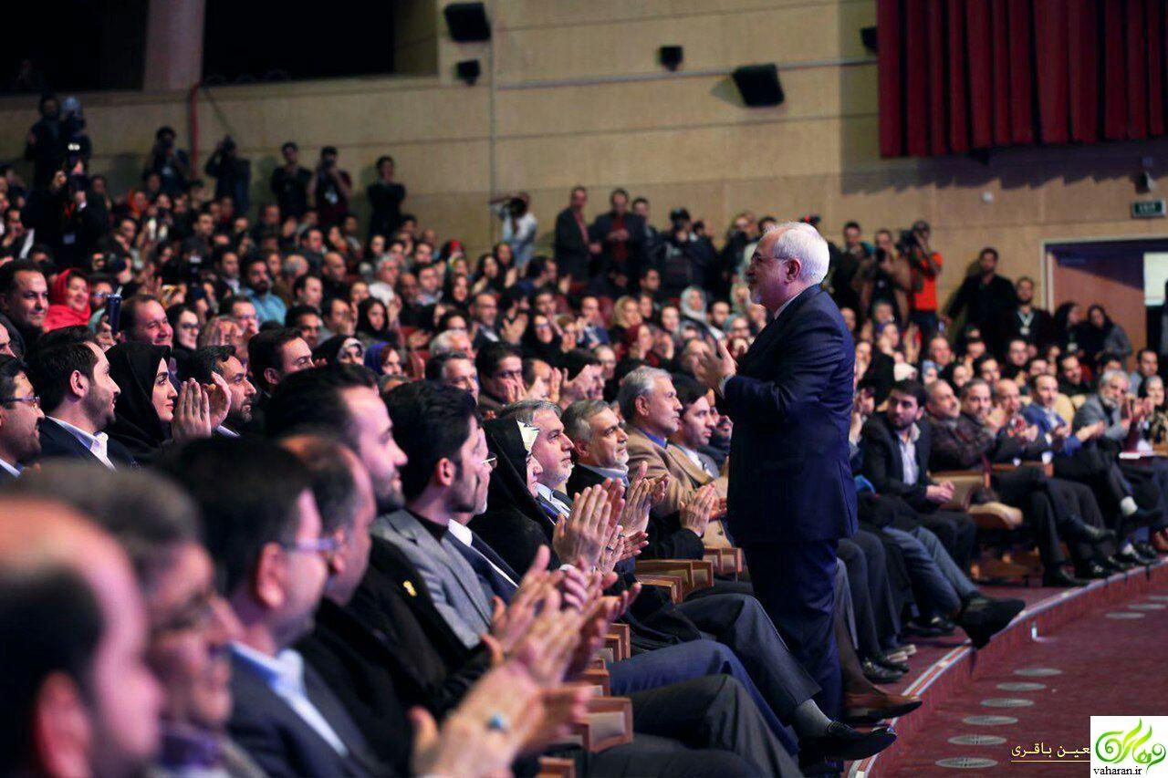 مراسم اختتامیه سی و پنجمین جشنواره فیلم فجر با حضور ظریف + عکس