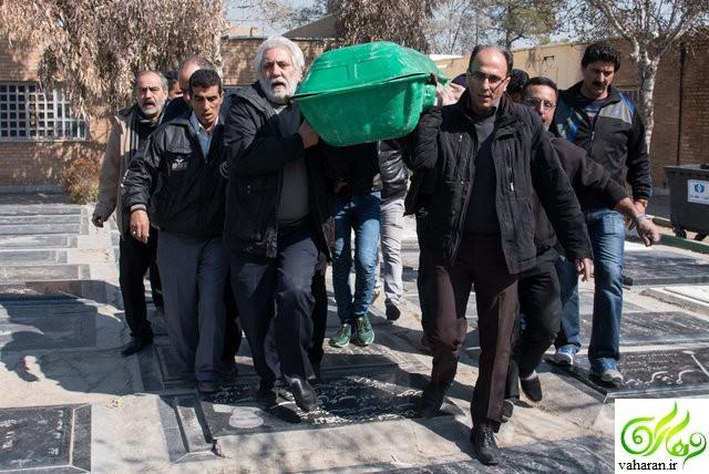 مراسم تشییع ایران بزرگمهری راد اسفند 95