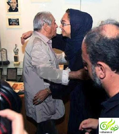 واکنش عجیب نیکی کریمی به بغل کردن عزت الله انتظامی + فیلم