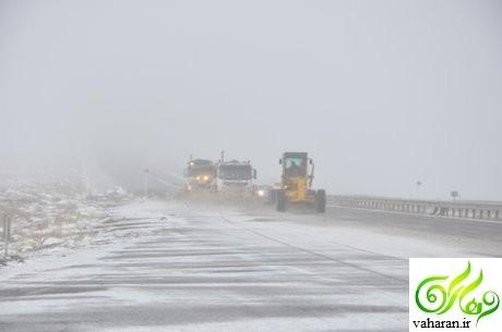 گرفتار شدن مردم در برف و کولاک در جاده دماوند – فیروزکوه + جزییات