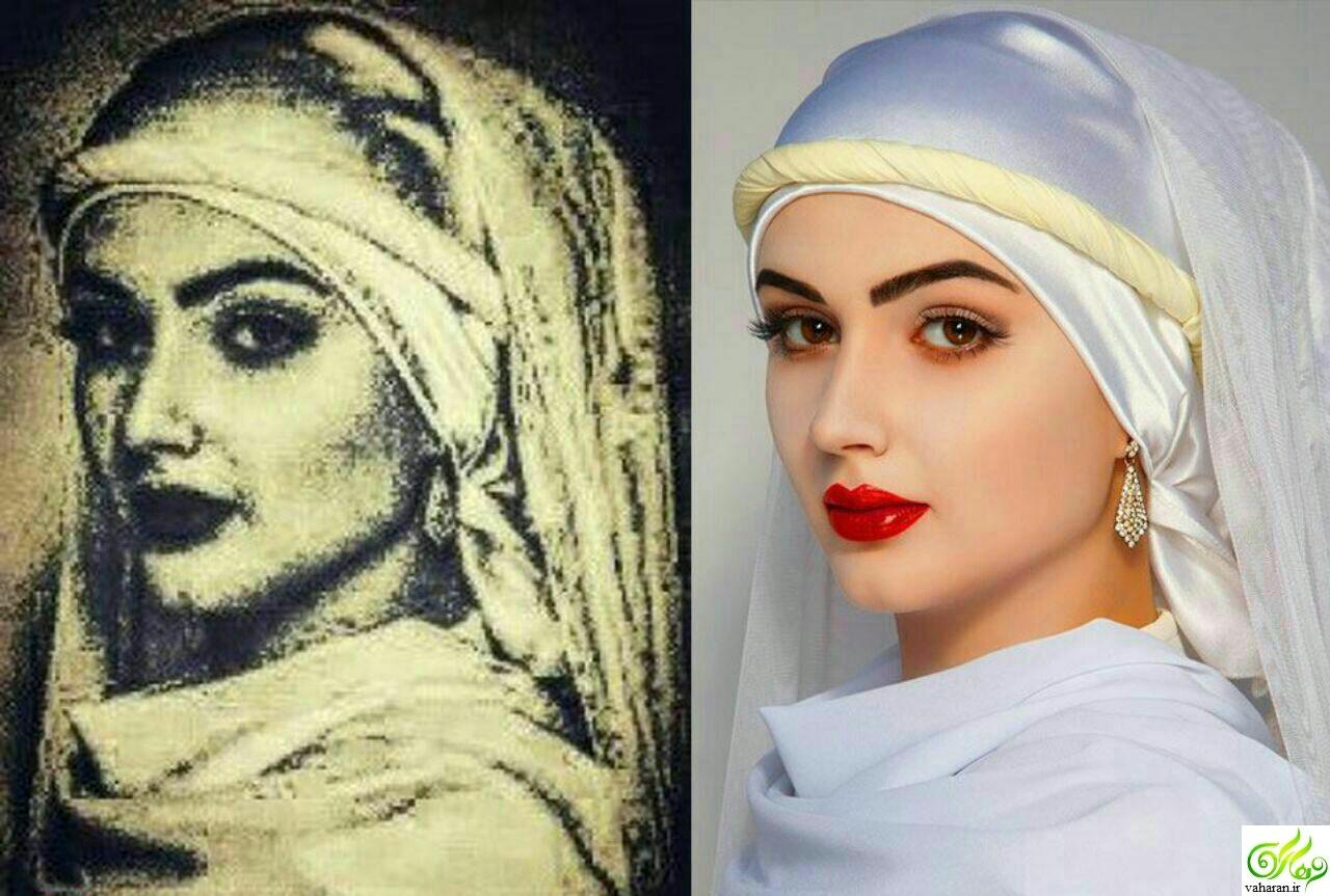 انتشار عکس واقعی زلیخا بعد از بازسازی تصویراش در مصر