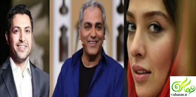 سوتی اشکان خطیبی در دورهمی در مورد همسرش آناهیتا درگاهی + فیلم