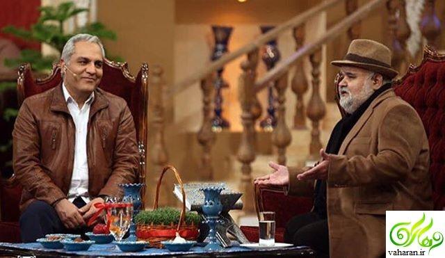 صحبت های جالب اکبر عبدی در دورهمی 4 فروردین 96 + فیلم