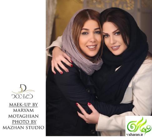 عکس آتلیه ای رز رضوی + عکسی متفاوت در کنار آرایشگرش