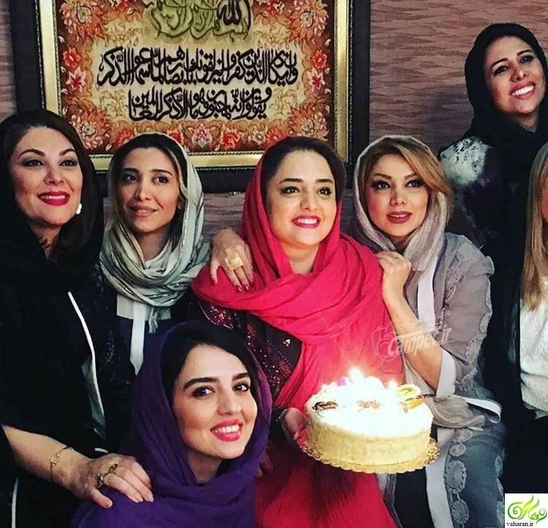 عکس های جشن تولد نرگس محمدی فروردین 96 با حضور بازیگران