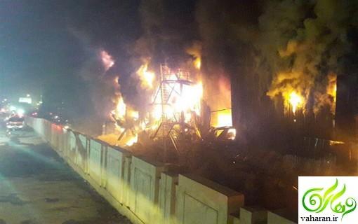 اسامی مصدومان آتش سوزی انبار در جاده کرج فروردین ۹۶