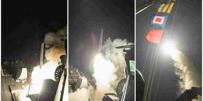 جزییات حمله موشکی آمریکا به سوریه + عکس و تعداد کشته شدگان