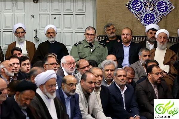 علت غیبت سید ابراهیم رئیسی در دیدار با رهبری اردیبهشت 96 / عکس