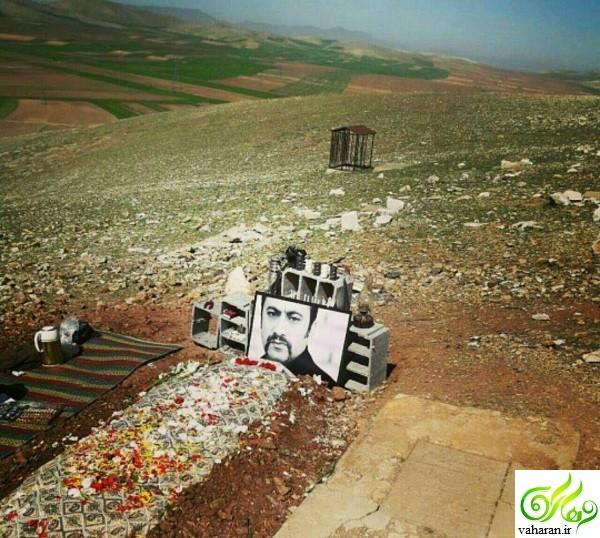 عکس قبر عارف لرستانی در روستای سیمینه کرمانشاه