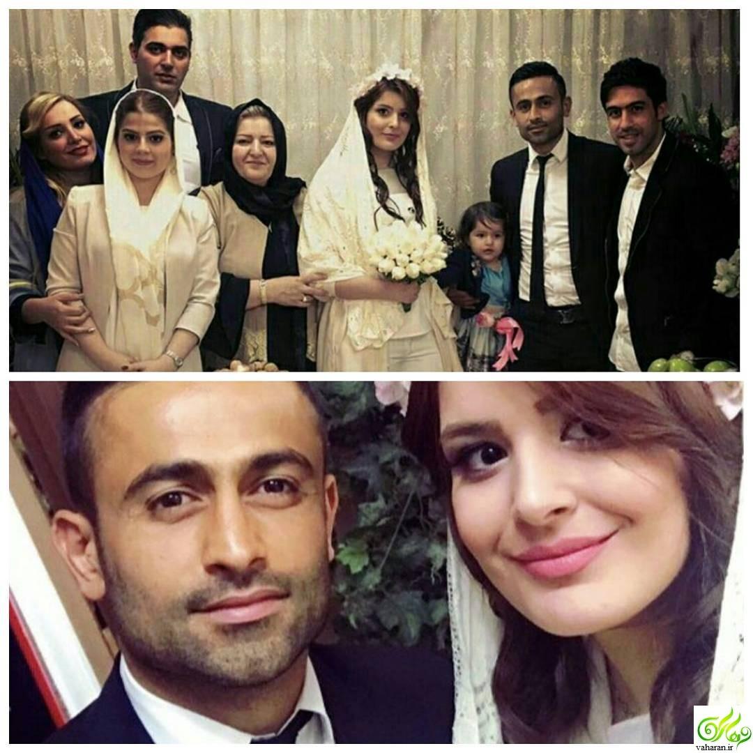 عکس مراسم عقد امید ابراهیمی هافبک استقلال تهران + عکس همسرش
