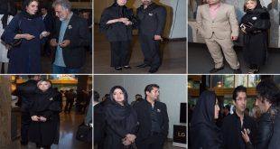 عکس های بازیگران و همسرانشان در مراسم چهلم علی معلم اردیبهشت 96
