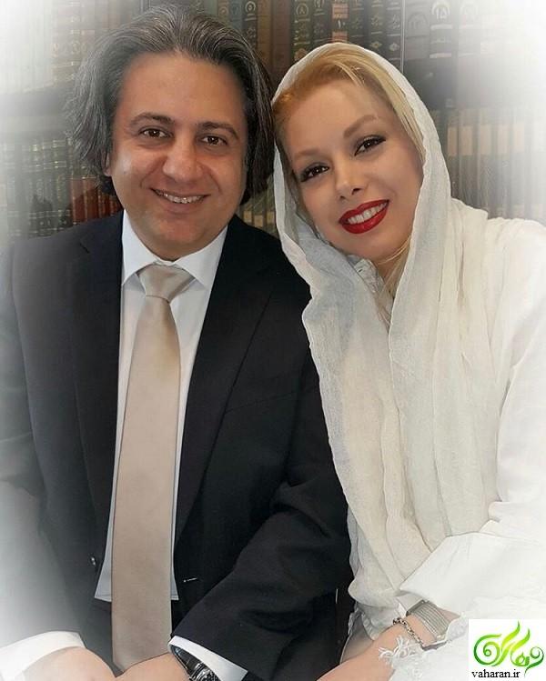 عکس و متن غم انگیز مراسم عقد افشین یداللهی و همسرش در اینستاگرام پرستو صالحی