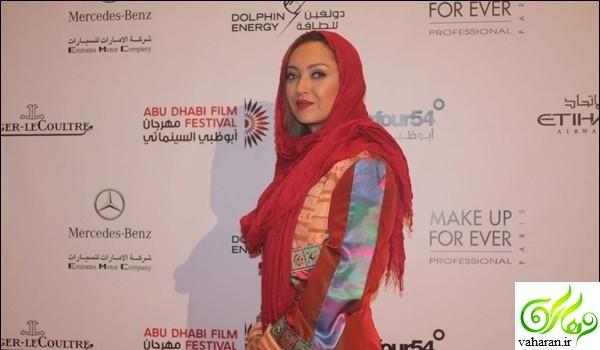 مدل لباس نیکی کریمی در جشنواره فیلم ابوظبی 2017