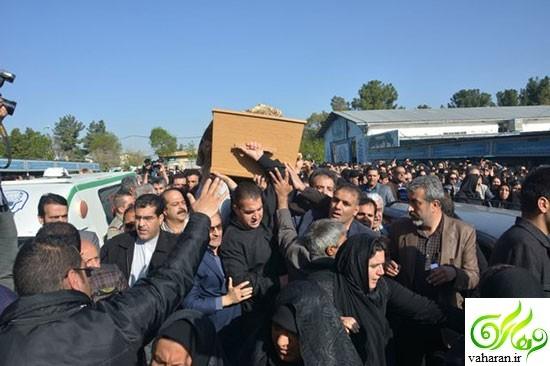 مراسم تشییع عارف لرستانی در کرمانشاه فروردین 96