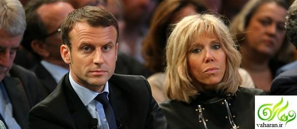 ازدواج امانوئل ماکرون 40 ساله (رئیس جمهور فرانسه) و همسرش بریژیت تروینو 64 ساله