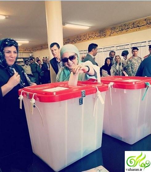 عکس های بازیگران در حال رای دادن در انتخابات 96