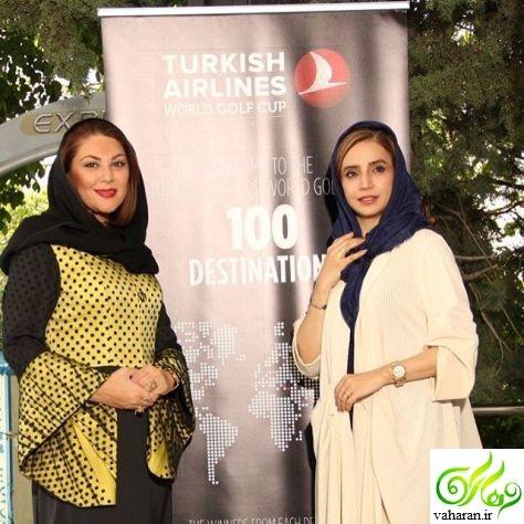 عکس های بازیگران زن در مسابقات گلف تهران اردیبهشت 96