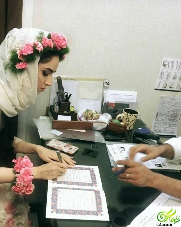 عکس های مراسم عقد و ازدواج هانیه غلامی + عکس همسرش و بیوگرافی