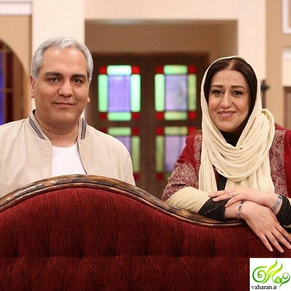 فاطمه هاشمی در دورهمی ۱۴ اردیبهشت ۹۶ + بیوگرافی و عکس همسر و دخترش