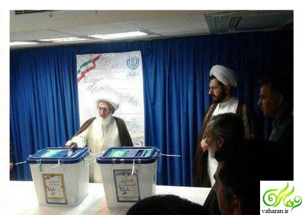 چهره های سیاسی در پای صندوق رای در انتخابات 96 + عکس
