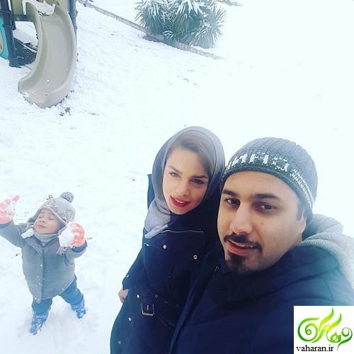 احسان خواجه امیری در دورهمی 12 خرداد 96 + بیوگرافی و عکس همسر و پسرش