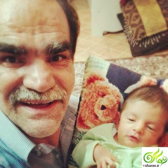 اصغر حیدری (دکتر جکول شب های برره) پدر بزرگ شد + عکس نوه اش