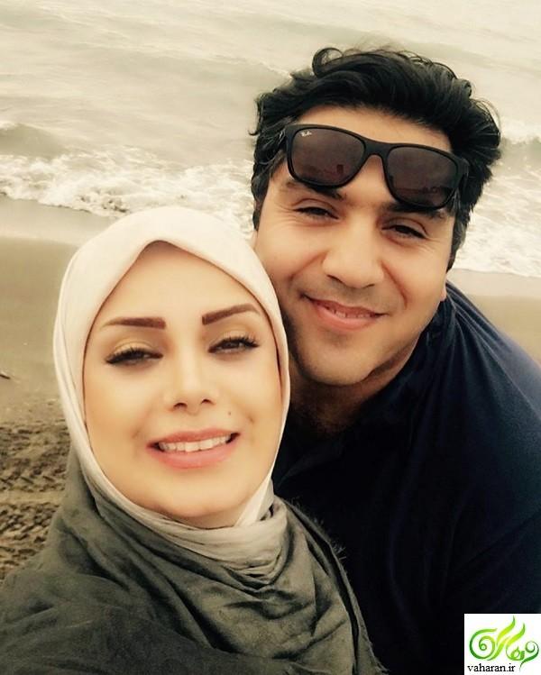 تلاش فاطمه صبا راد برای نشان دادن حلقه ازدواجش + عکس های جدید خودش و همسرش