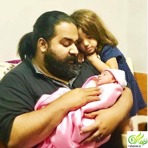 تولد دومین دختر رضا صادقی + عکس و نام دختر دوم رضا صادقی خرداد 96