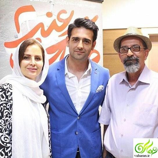 عکس جدید امیرحسین آرمان در سال 96 در کنار پدر و مادر جوانش