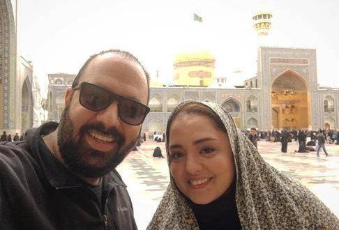 شکار لحظه ها: نگاه عاشقانه نرگس محمدی و همسرش علی اوجی / عکس