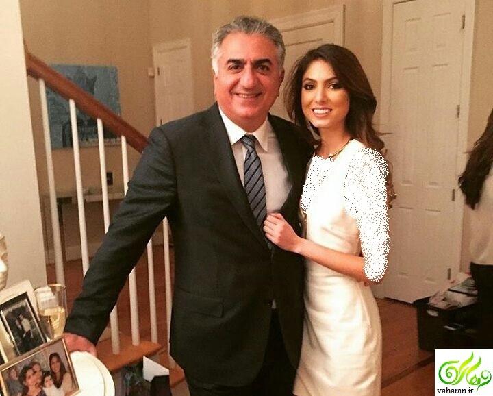 عکس های نور پهلوی دختر رضا پهلوی و نوه فرح پهلوی در کنار خانواده اش