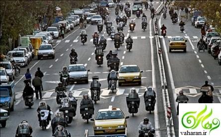 شرایط ثبت نام طرح ترافیک موتور سیکلت های شهر تهران مرداد 96