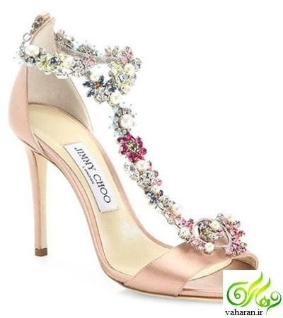 شیک ترین مدلهای کفش عروس ۲۰۱۷ / کفش تخت و کفش پاشنه بلند
