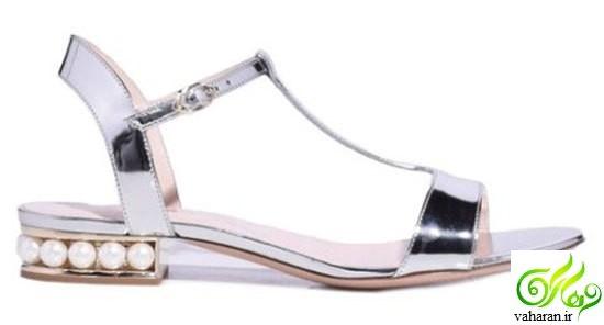 شیک ترین مدلهای کفش عروس 2017 / کفش تخت و کفش پاشنه بلند