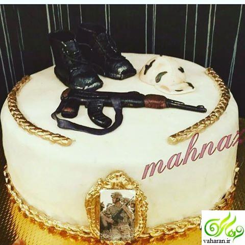 مدل کیک پایان خدمت ۹۶ / مدل کیک سربازی ۹۶