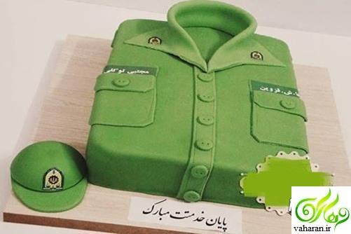 مدل کیک پایان خدمت 96 / مدل کیک سربازی 96