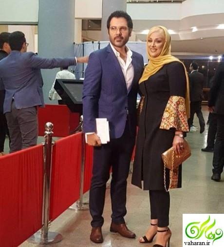 عکس بازیگران و همسرانشان در جشن حافظ 96 روی فرش قرمز