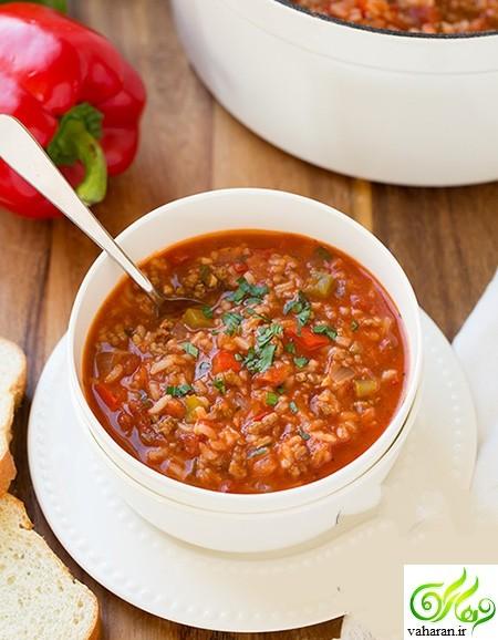 طرز تهیه سوپ با مواد دلمه به دو روش مختلف