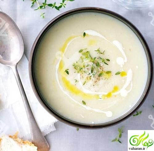 طرز تهیه سوپ گل کلم خامه ای به دو روش مختلف