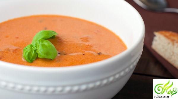 طرز تهیه سوپ گوجه فرنگی با ریحان به سه روش مختلف