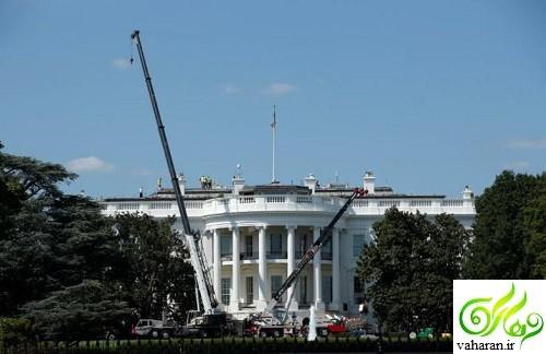 عکس های تعمیر و بازسازی کاخ سفید توسط ترامپ سال 2017