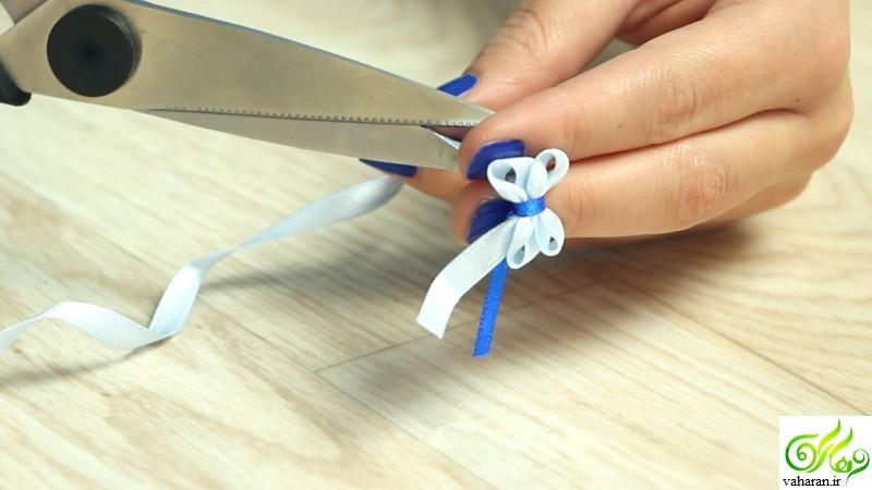 آموزش تصویری ساخت پاپیون تزیینی با استفاده از چنگال